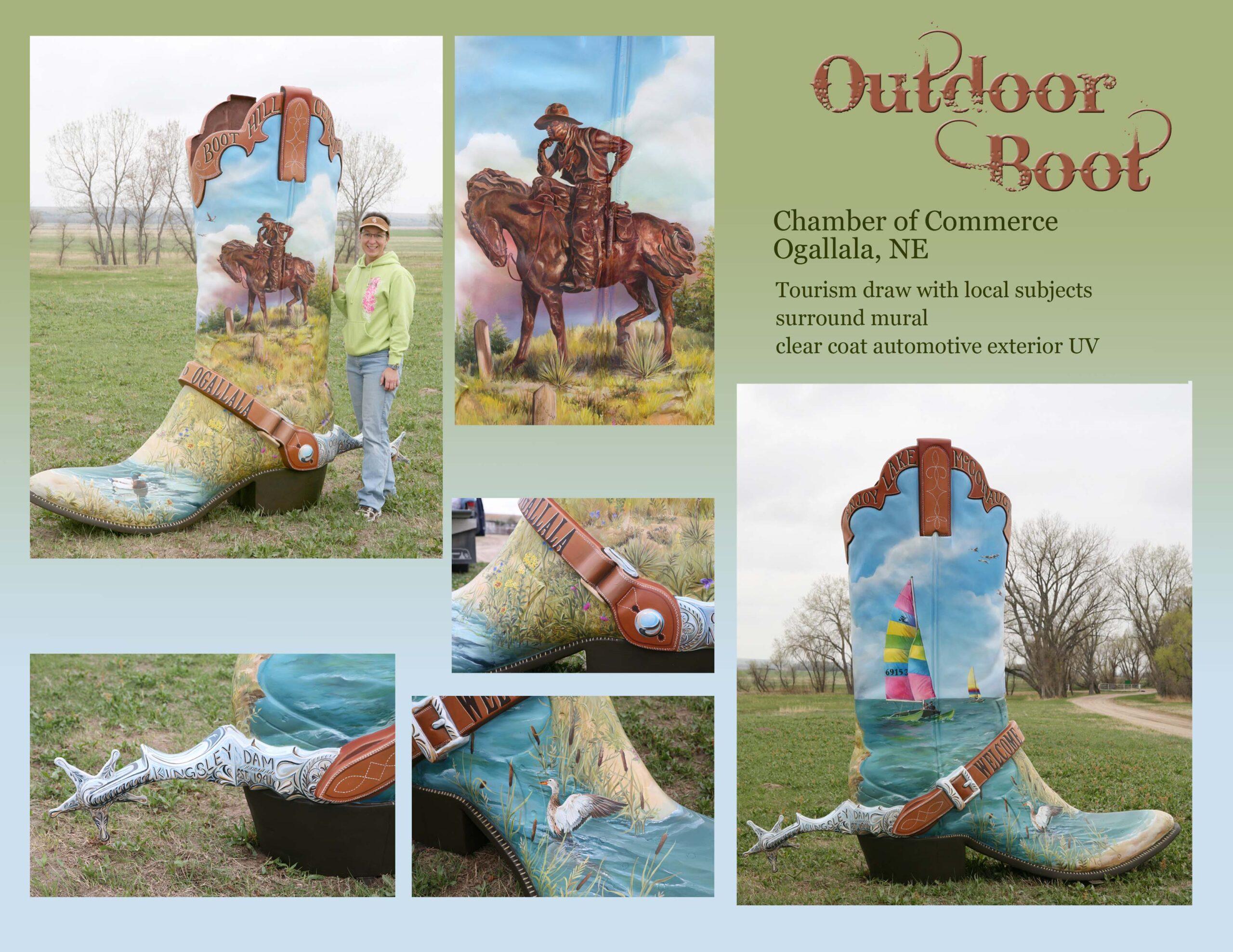 Outdoor Boot Sculpture